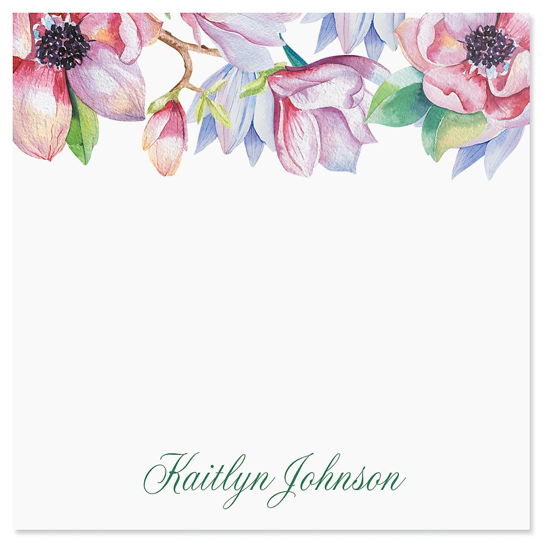 Magnolia Personalized Notes in a Cube