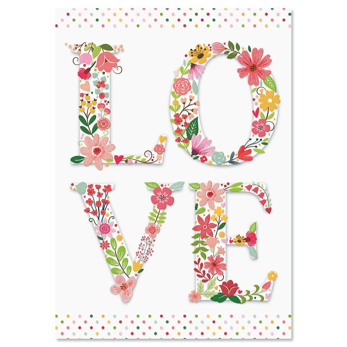 Diecut Love Valentine's Day Cards