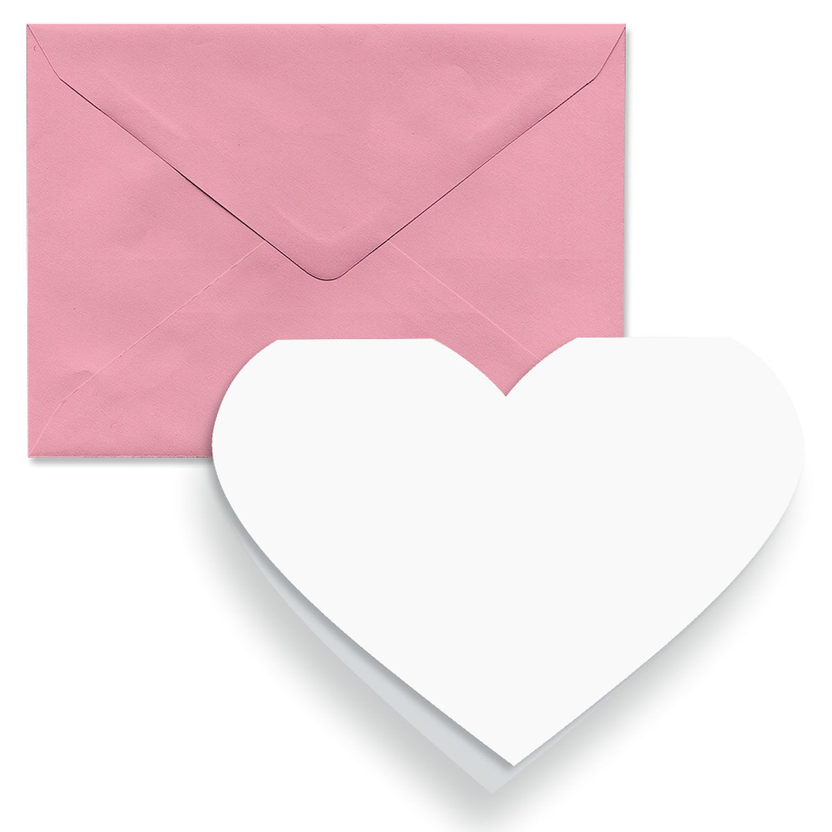 Blank Heart Note Cards and Envelopes