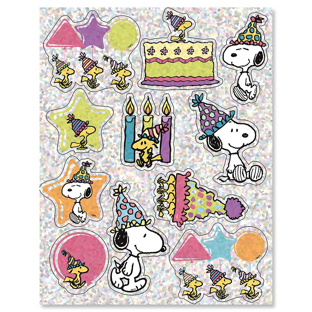 Celebrate PEANUTS® Sparkle Stickers
