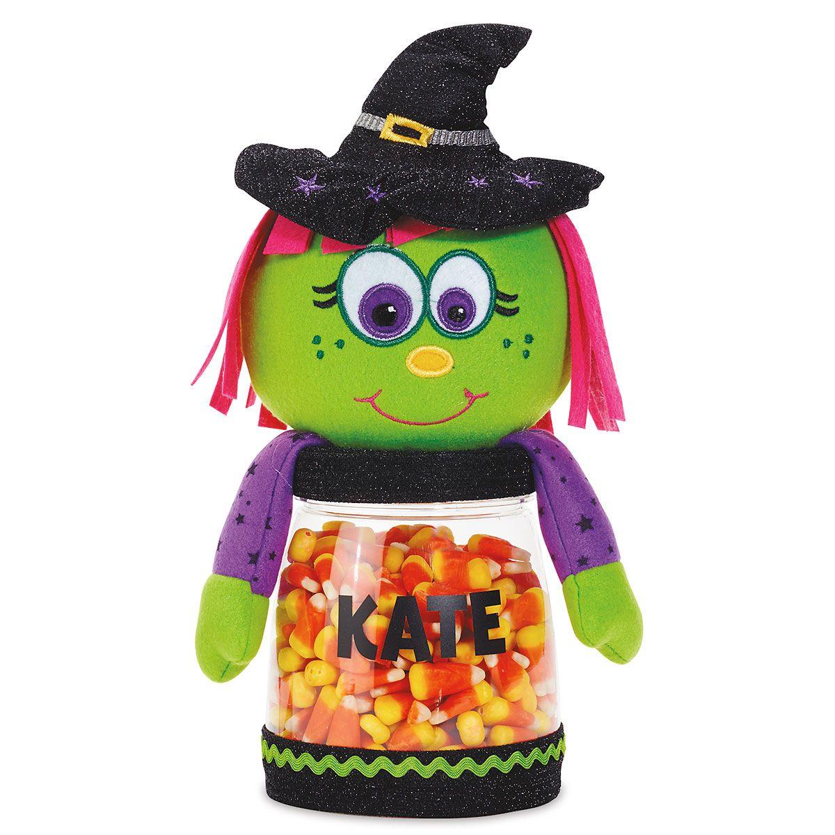 Halloween Witch Personalized Treat Jar