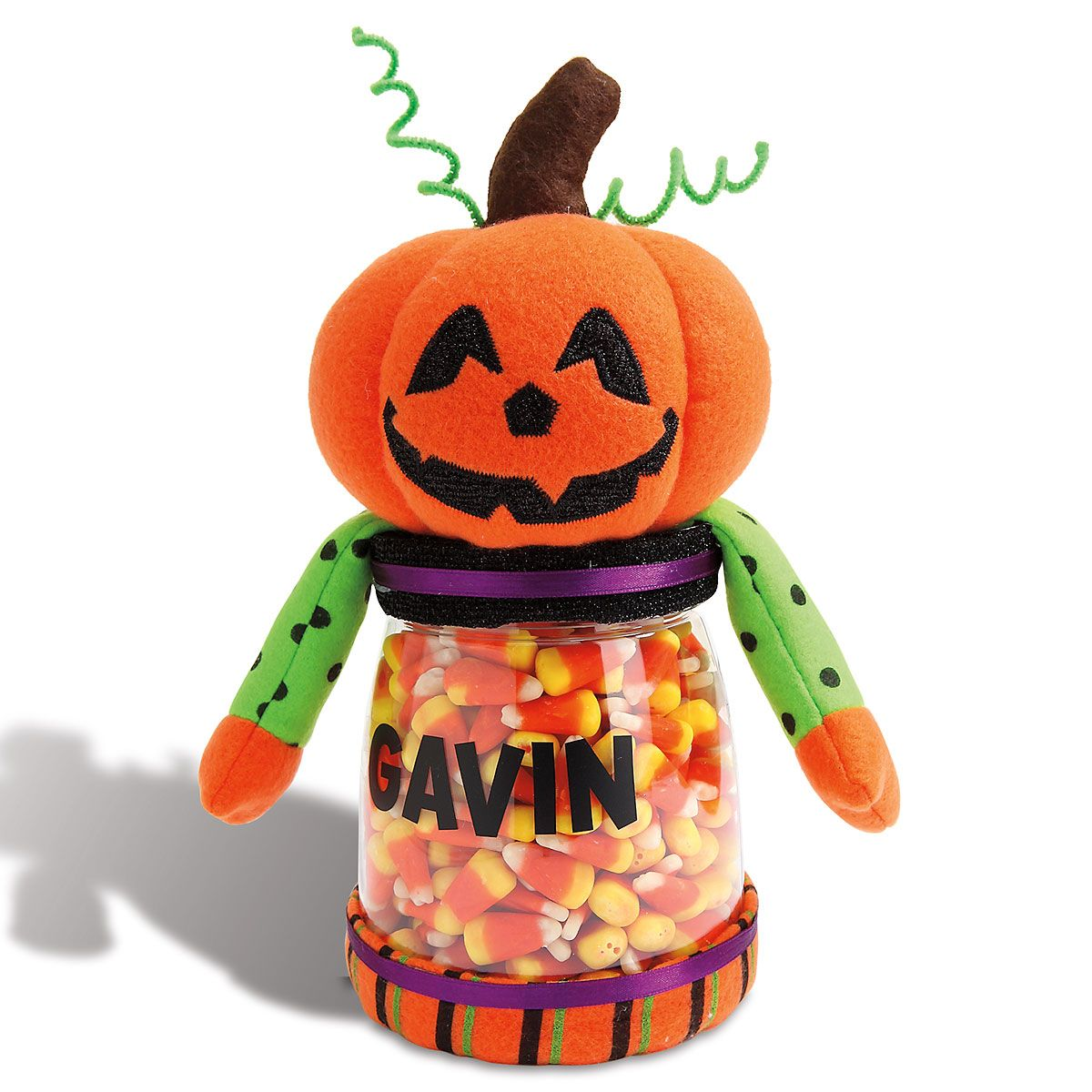 Halloween Jack-o-Lantern Treat Jar