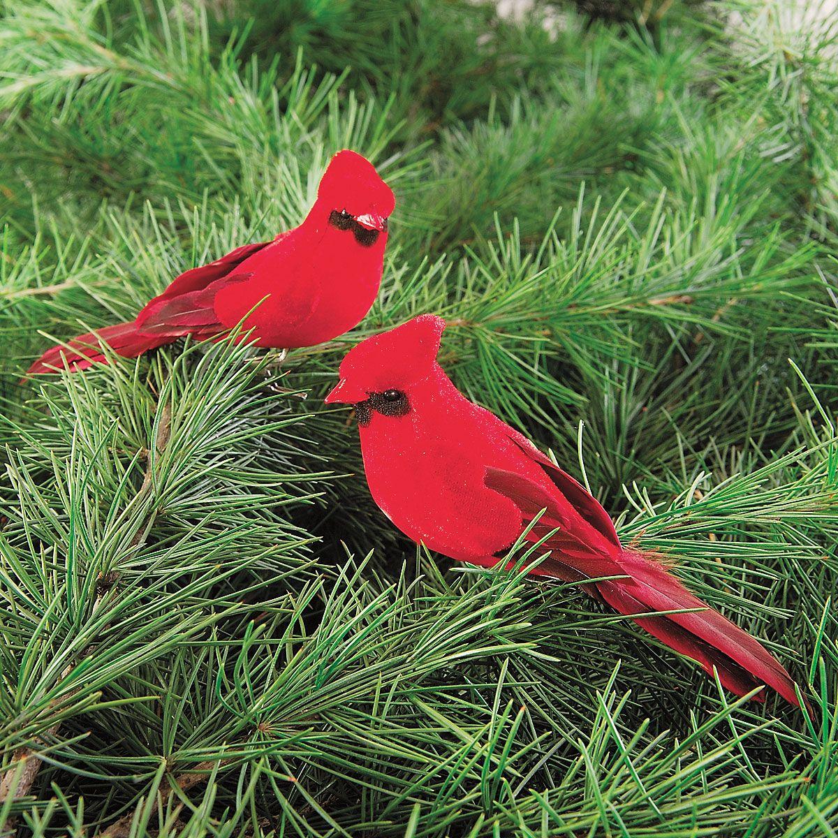 Cardinal Clip-on Christmas Ornaments