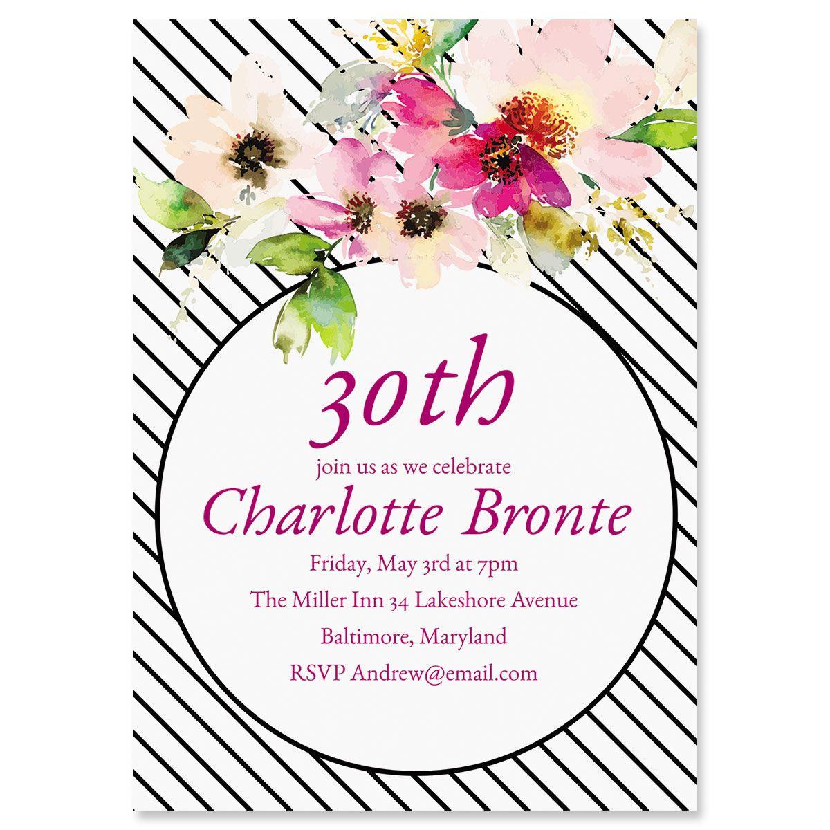 Personalized Charmed Milestone Invitations
