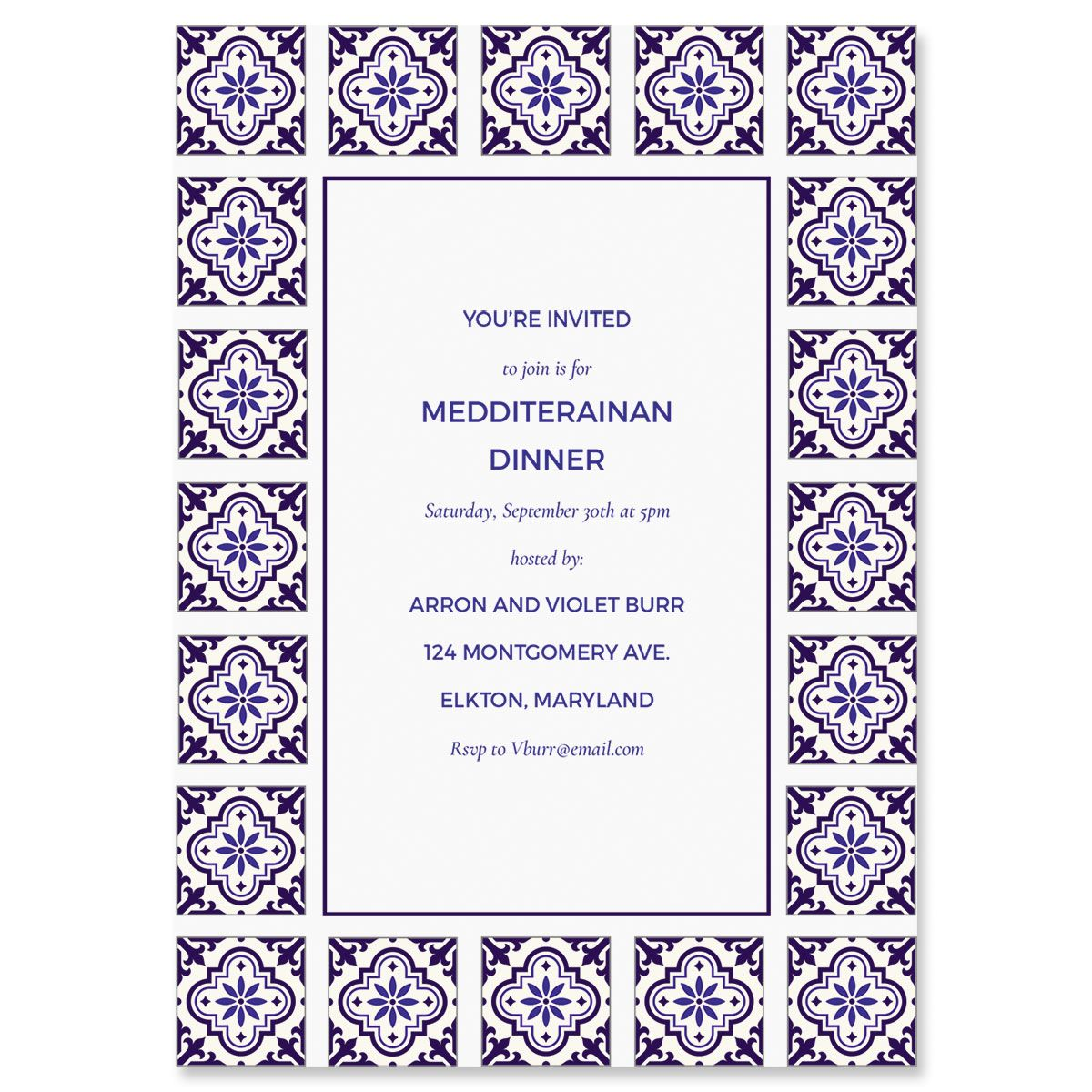 Personalized Styled Mediterranean Invitations