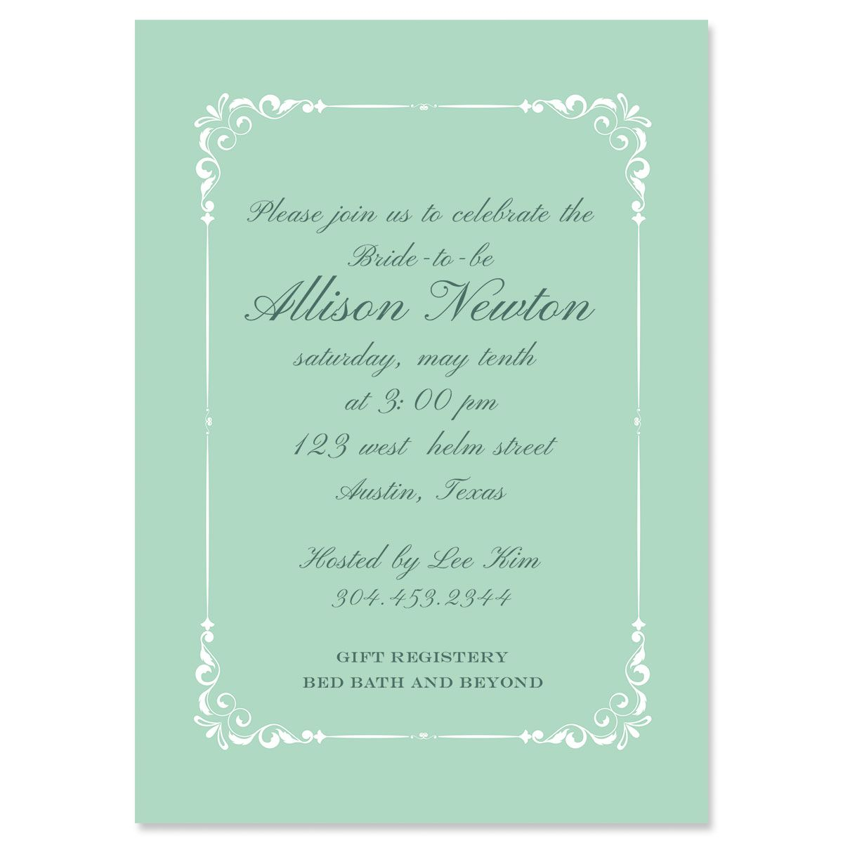 Personalized Splendor Invitations