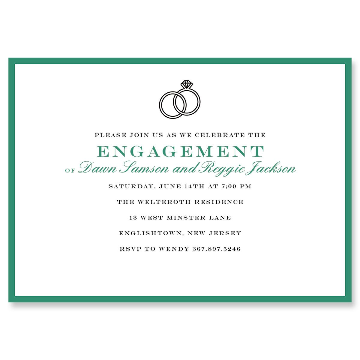 Personalized Entwined Ring Invitations