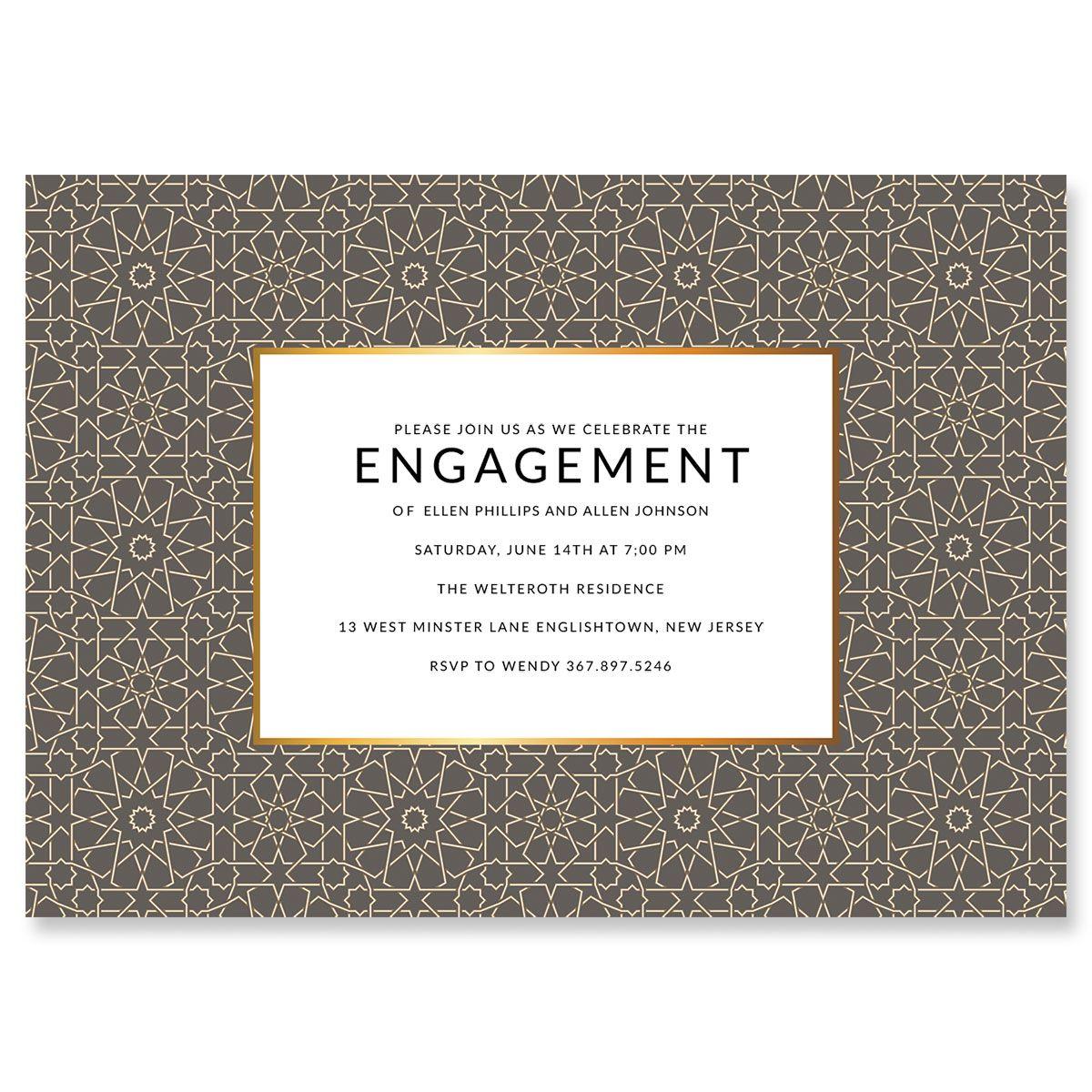 Personalized Lavish Geometric Invitations