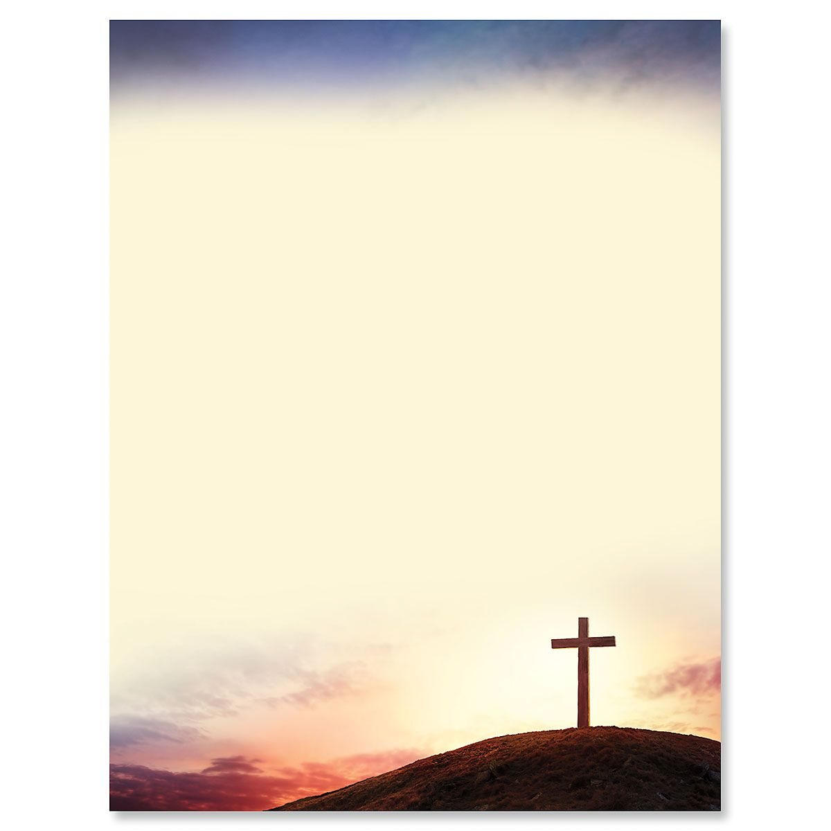 Sun Setting Cross Letter Paper