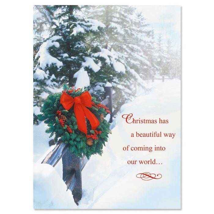 Holiday Wreath Christmas Cards