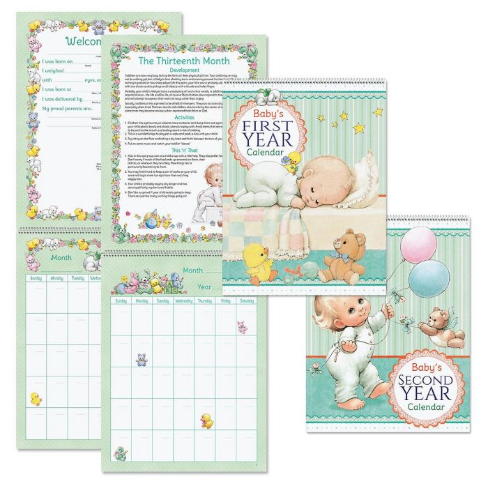 Morehead 1st and 2nd Year Baby Calendars