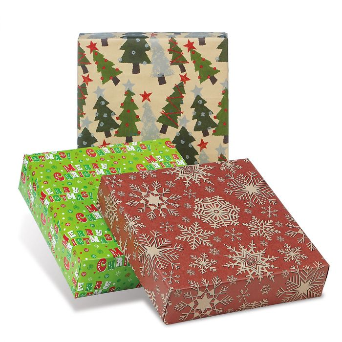 Jolly Collection Jumbo Rolled Christmas Wrapping Paper Set