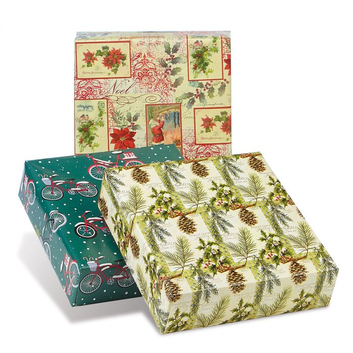 Natural Collection Jumbo Rolled Christmas Wrapping Paper Set