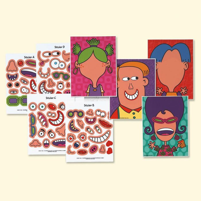 Make-A-Face Valentines Cards