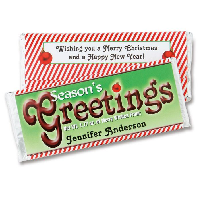 Season's Greetings Candy Bar Wrappers