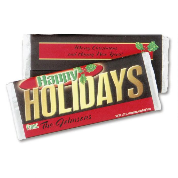 Happy Holidays  Personalized Candy Bar Wrappers