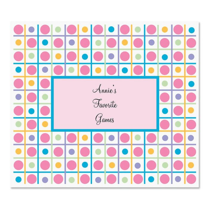 Personalized Stripes 'N' Dots Big Name Stickers
