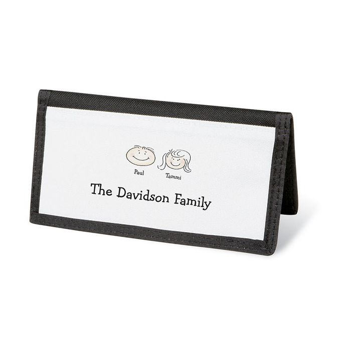 Happy Family Personal Checkbook Cover-2 Faces-082423B
