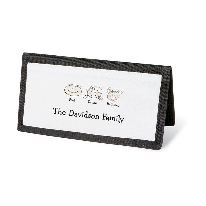 Happy Family Personal Checkbook Cover-3 Faces-082423C