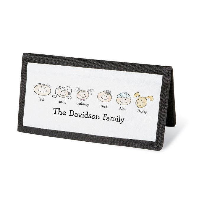Happy Family Personal Checkbook Cover-6 Faces-082423F