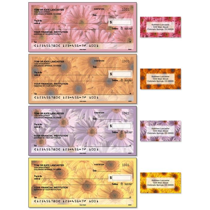 Daisy Delight Duplicate Checks with Matching Address Labels