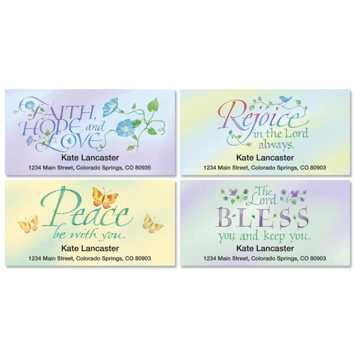 Expressions of Faith® Deluxe Address Labels  (4 Designs)