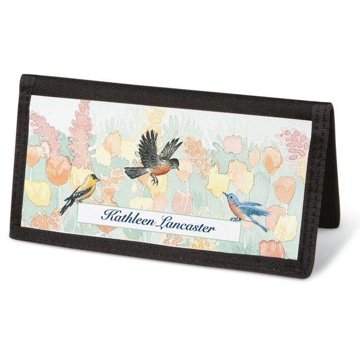 Wildbird  Checkbook Cover - Personalized