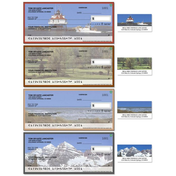 Scenes Of America Duplicate Checks with Matching Address Labels