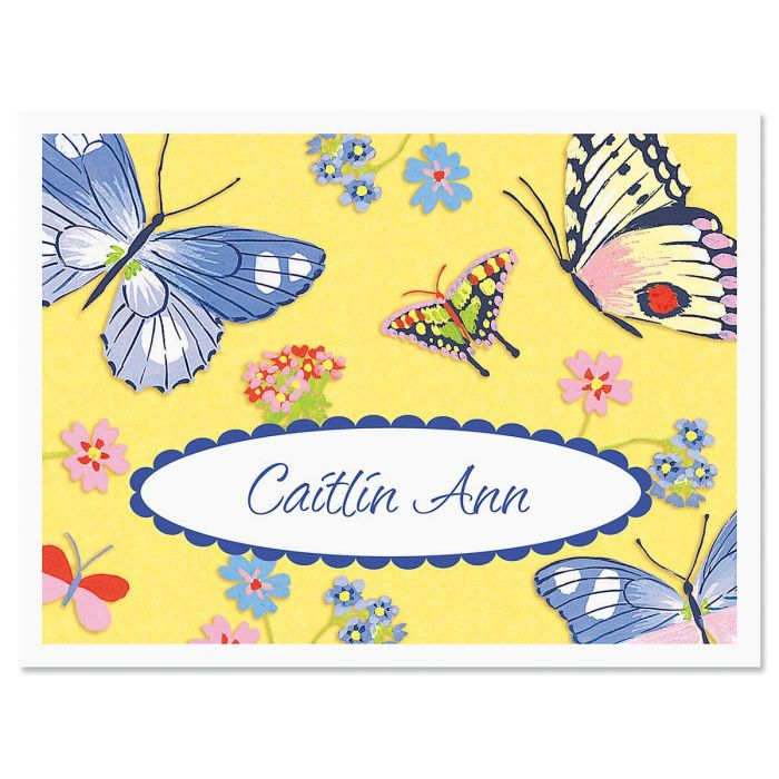 Beautiful Butterflies Personalized Note Cards
