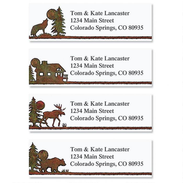 Country Lodge Address Labels  (4 designs)