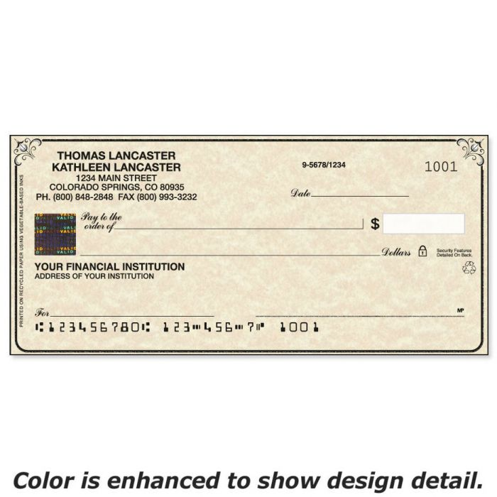 Securiguard Parchment Hologram Premium Checks