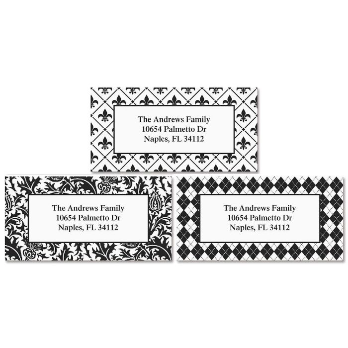 Black and White Address Labels  (3 designs)