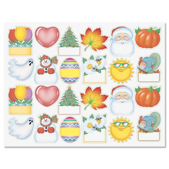 Four Seasons Diecut Address Labels  (12 Designs)