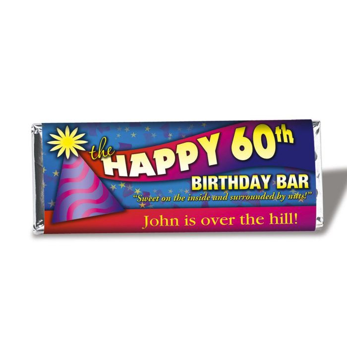 60th Birthday Candy Bar Wrappers
