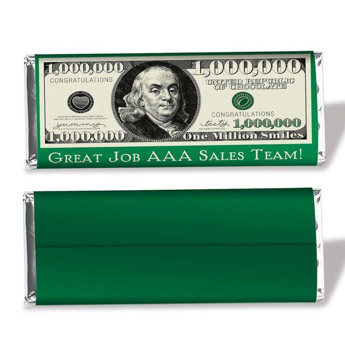 $1 Million Dollar Candy Bar Wrapper