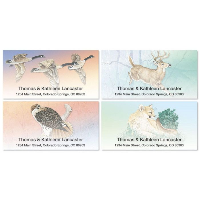 Wildlife Deluxe Address Labels  (4 designs)