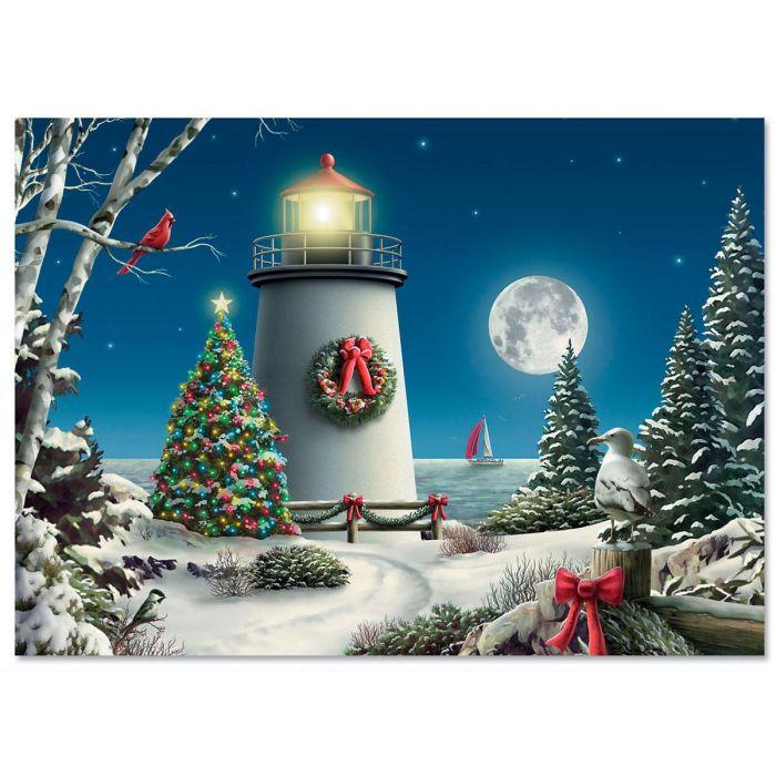 Winter Lighthouse Christmas Cards