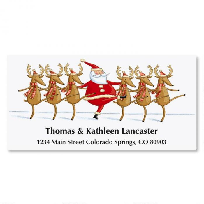 Reindeer Follies Holiday Address Labels