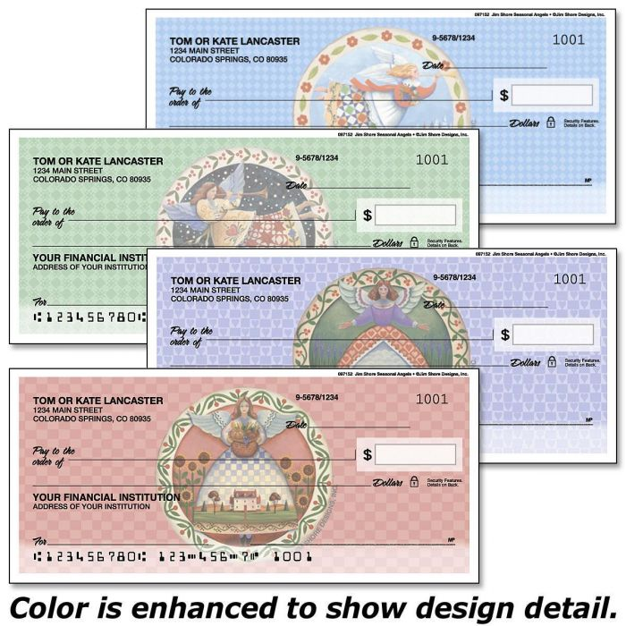 Seasonal Angels  by Jim Shore Design Studio™ Duplicate Checks