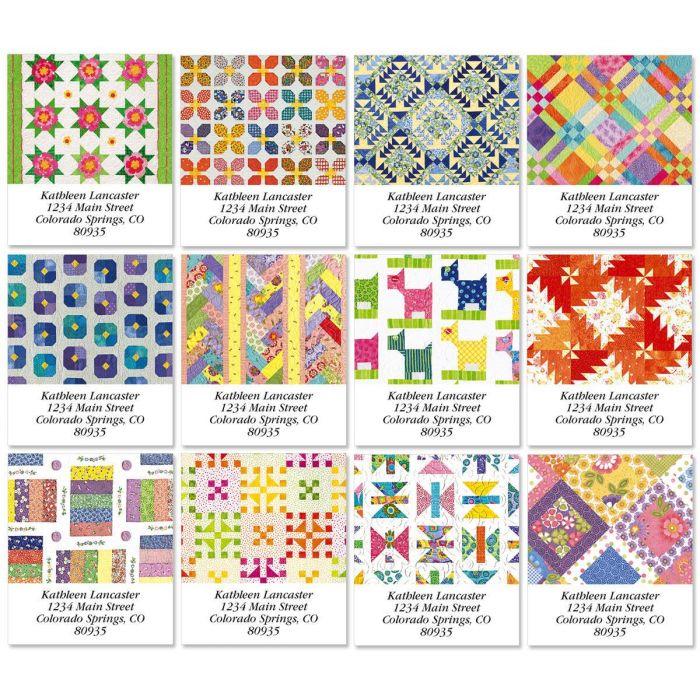 Quilt Select Address Labels  (12 designs)