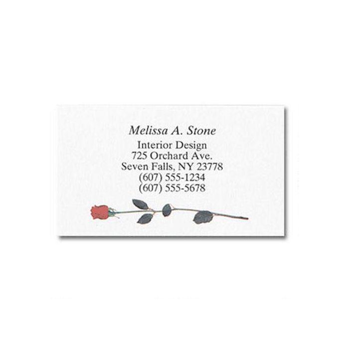 Single Rose Designer Calling Cards