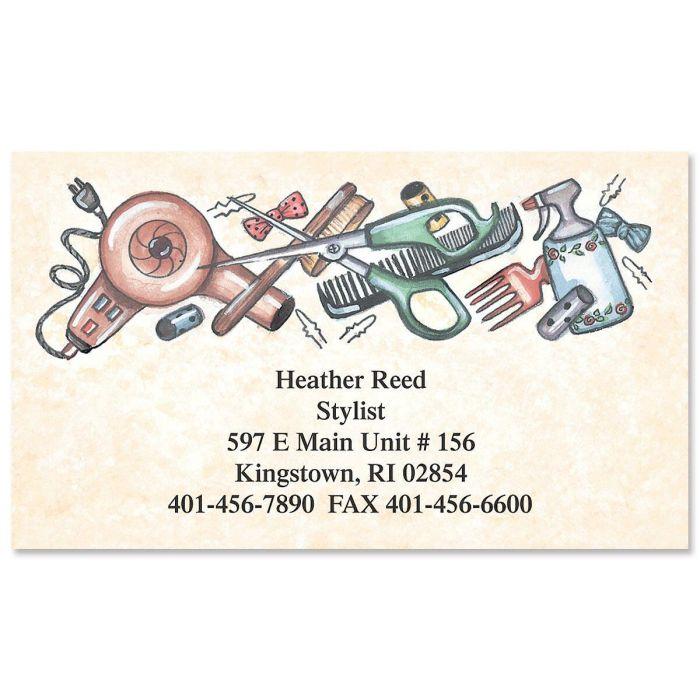 Hairdresser Designer Calling Cards