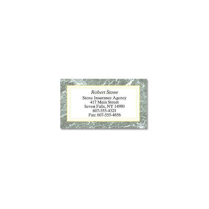 Green Marble Designer Calling Cards