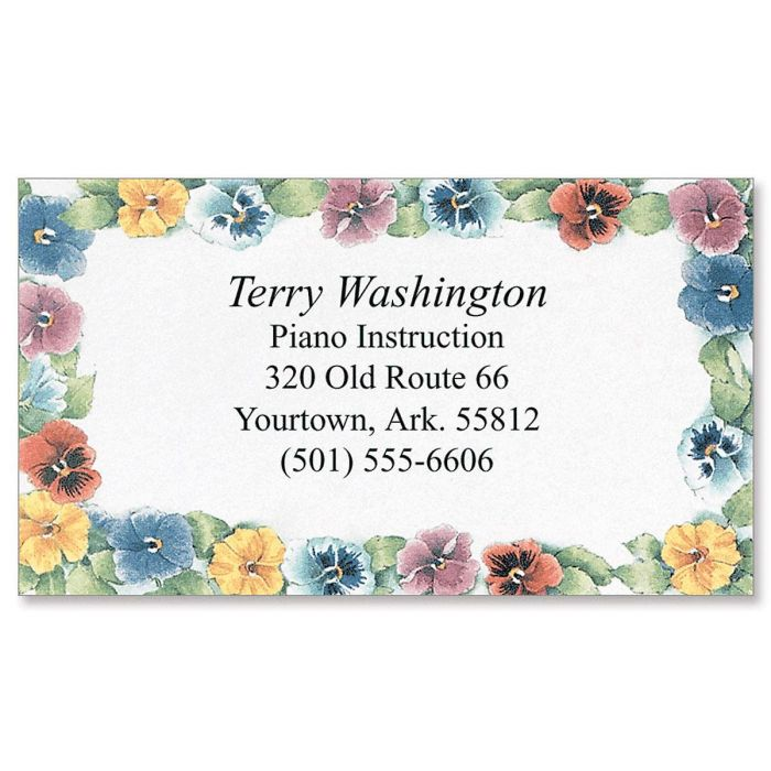 Pansies Designer Business Cards