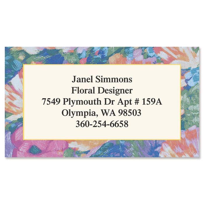 Brushed Floral Designer Calling Cards