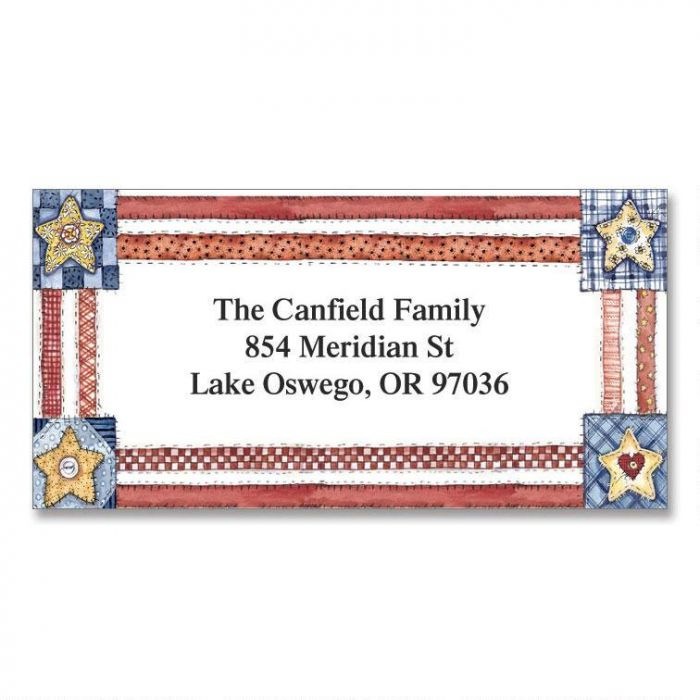 Americana Border Address Labels