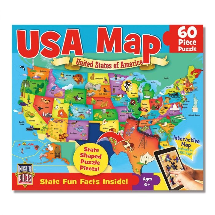 60-Piece USA Map Puzzle | Current Catalog