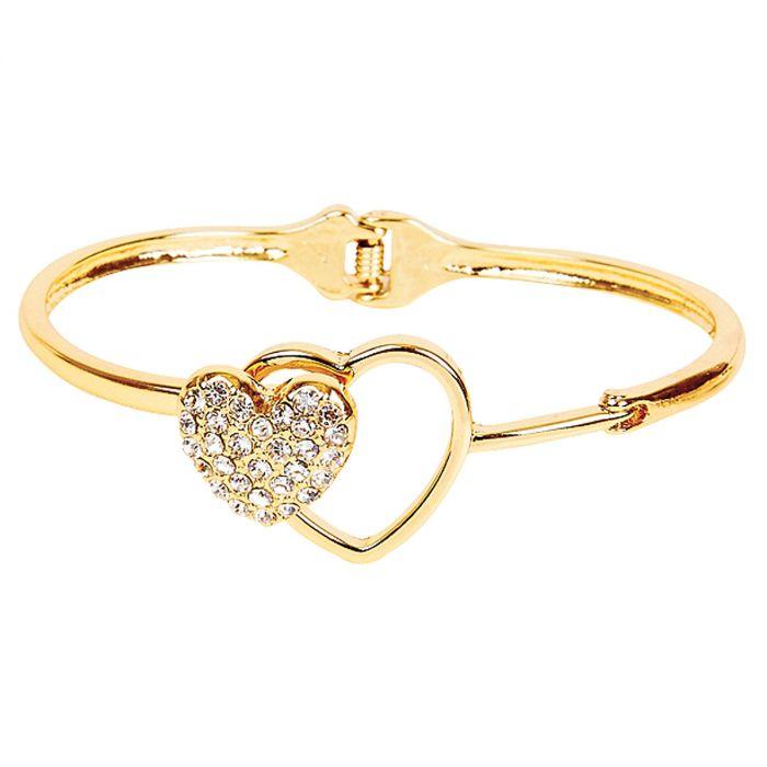 Gold Double Heart Bracelet