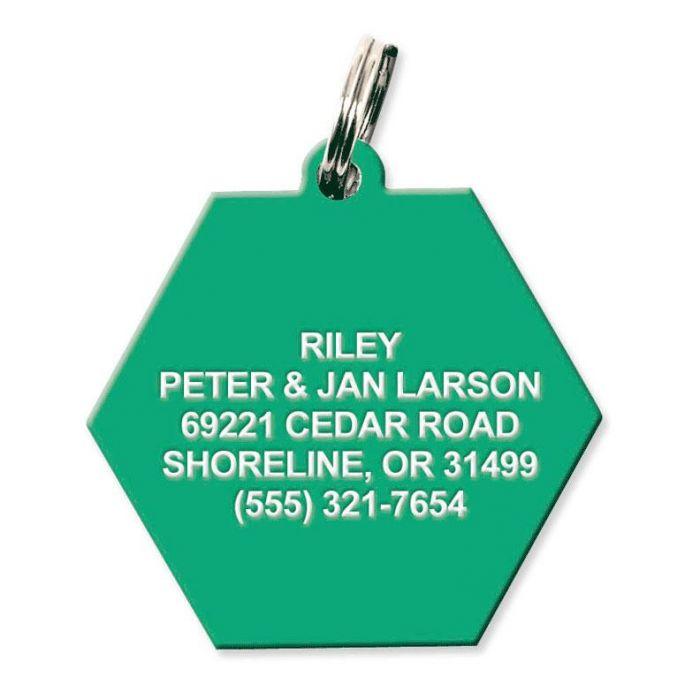 Plastic Hexagon Pet Tag