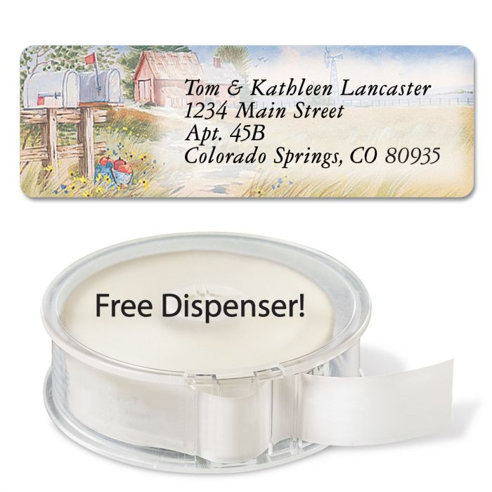 American Countryside Rolled Address Labels  (5 Designs)